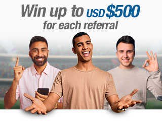 Win up to $500USD* for each referral